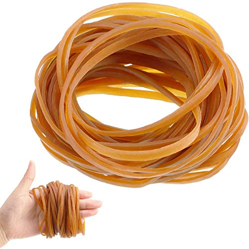 100 Pieces Rubber Bands Elastic Trash Can Bands Office File Folder Strong Elastic Rubber Bands for School Home Office Supplies (4 x 0.12 Inch)