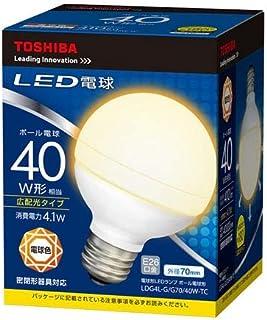 東芝 LED電球 ボール電球形 410lm(電球色相当)TOSHIBA LDG4L-G/G70/40W-TC