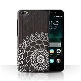 Stuff4 Coque de Coque pour Huawei G Play Mini/Henné de Noix Design/Bois Dentelle Fine Collection