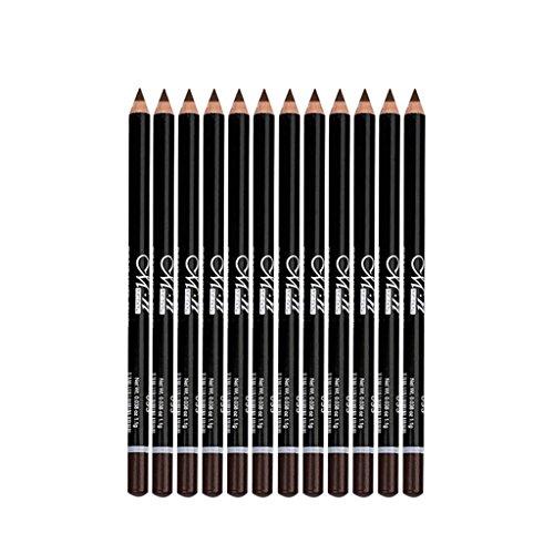 Toygogo 12 Crayon Doublure Longue Durée Eye Liner Crayon Kit, Outil De Maquillage Cosmétique Maquillage Étanche - Café