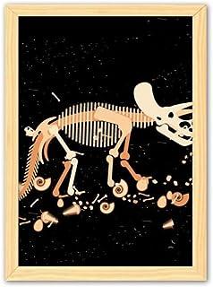 CaoGSH Peinture décorative en bois avec os de dinosaure miniature A4