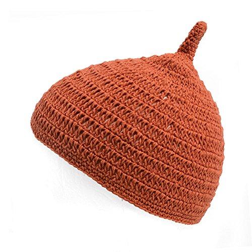 (カジュアルボックス)CasualBox ベビー REOM コットン どんぐりワッチ 5色 ベビーサイズ 赤ちゃん ニット帽 出産祝いニットキャップ charm チャーム (オレンジ)