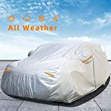 Autsop Car Cover Waterproof All Weather for Automobiles, Outdoor Sun Uv Rain Dust Wind Protection, Full Covers with Zipper, Universal Fit SUV/Jeep (Length up to 177 Inch)