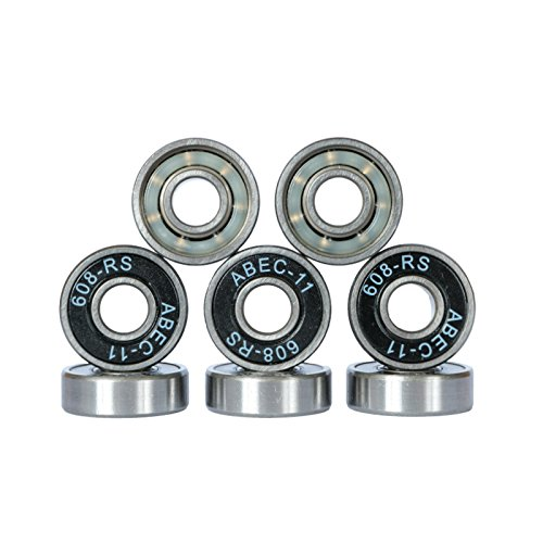 Bextreme Rodamientos ABEC 11 Chrome para Skateboard, Longboard, Patines, monopatines, patinetas, Scooter, Patinete, Skate, surfskate, Cruiser, Penny