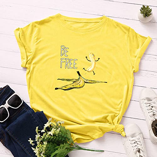 S-5XL Bomullsskjorta O-Ringad Kortärmad T-Shirt Kul Svart Topp Bomull Skjorta-A1143-Huangse_Xxxl
