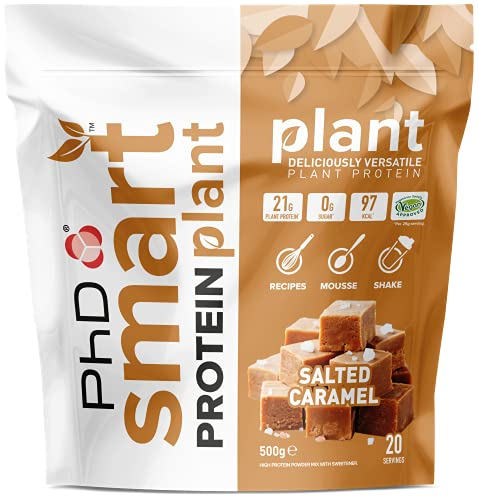 PhD Smart Protein Plant, Vegan approved Plant based protein Powder (Salted Caramel) 20 Servings