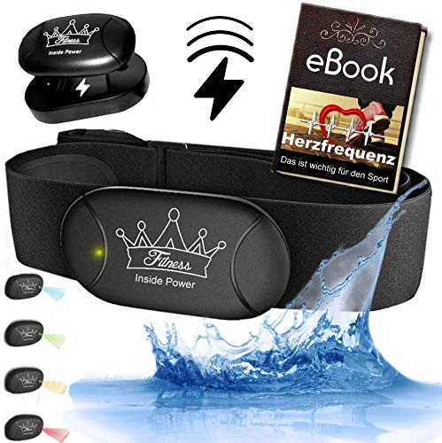 Fitness Prince© Heartbeat 3 AKKU Inside Power Bluetooth & ANT+ Gratis eBook kompatibel zu Garmin Wahoo Polar RUNTASTIC iPhone Android Brustgurt Herzfrequenzmesser (Heartbeat 3)