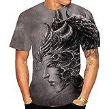 SSBZYES Camiseta para Hombre, Camiseta De Verano De Manga Corta con Cuello Redondo, Camiseta De Gran Tamaño,...