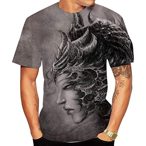 SSBZYES T-Shirt da Uomo T-Shirt Manica Corta da Uomo Estiva T-Shirt Girocollo da Uomo T-Shirt Fashion da Uomo T-Shirt Grande da Uomo T-Shirt Moda Coppia