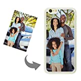 Moonlove Personalized Custom Case for iPhone 6 6s Create Your Own Phone Case with Picture and Text Soft TPU Rubber Shock Absorbing Bumper Cover