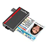 VOASTEK USB 3.0 Smart Card Reader | Electronic ID Card Reader and CAC Smart Card Reader | SD/Micro SD/M2/MS/SIM Card Adapter | Compatible with Windows (32/64bit) XP/Vista/7/8/10, Linux and Mac OS