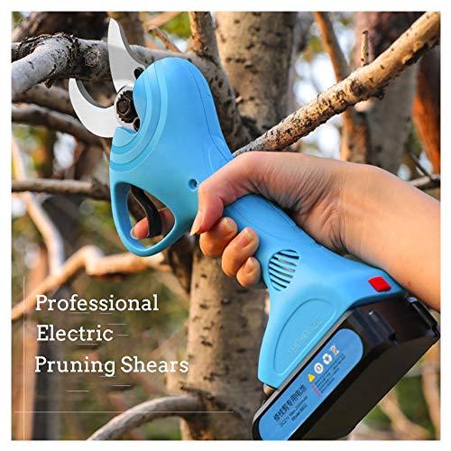 Sécateur Professionnel Sans Fil électrique,2 Pack Batterie au lithium rechargeable de 2000mAh, diamètre de coupe de 30 mm (1,2 pouce), pour arbre de ramassage de jardin, 6-8h de temps de travail