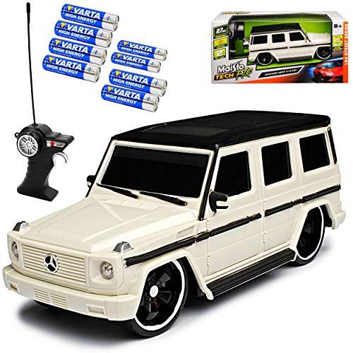 Maisto Mercedes-Benz G-Klasse W463 Weiss 27 MHz RC Funkauto - inklusive Batterien - sofort startklar 1/24 Modell Auto