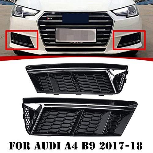 Autoteile Paar Frontstoßstange Lower Nebelscheinwerfer Grille Abdeckung Gepasst Fit for Audi A4 B9 2017-18