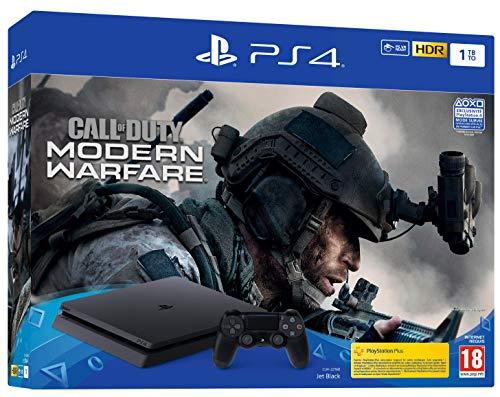 PS4 Slim 1 To F + Call Of Duty Modern Warfare - noir