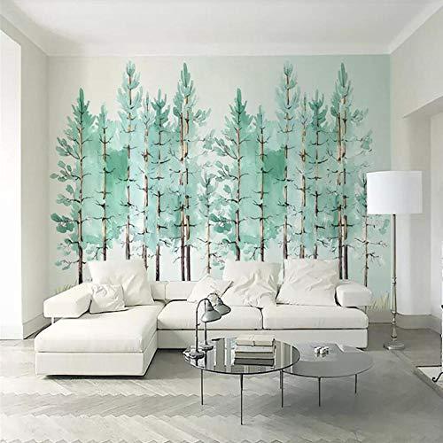 Pbbzl Eenvoudige Munt Groene Houten Nordic Tv Achtergrond Muur Muren Groothandel Behang muurschildering Poster Photo Muur 250x175cm