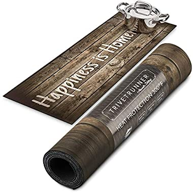 TRIVETRUNNER :Farmhouse Decorative Trivet and Kitchen Table Runners Handles Heat Up to 300F, Anti Slip, Hand Washable, and Convenient for Hot Dishes and Pots,Hand Washable (Wood Rustic)