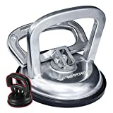 WFPOWER Suction Cup Dent Puller Removal Tool Silver Aluminum 5inch for Heavy Duty Glass Lifting Kit, Car Body Repair Tool, Handle Lifter with Small Suction Cup
