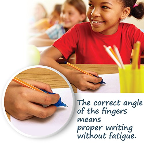 Pencil Grip Writing Aid for Children with large hands Blue MoonFish - WRITE-IT-RIGHT Control Angle of fingers (4851)