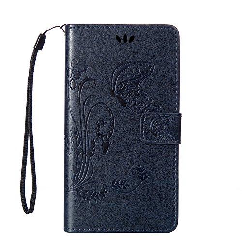 LG Spirit H422 Hülle Coozon Book Style Handy Tasche Klapp Etui Schutz Hülle Flip Hülle mit St?nderfunktion & Kartenf?cher Für LG Spirit H422 (4.7 Zoll)