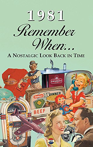 1981 REMEMBER WHEN CELEBRATION KARDLET: 40th Gift- Birthdays, Anniversaries, Reunions, Homecomings, Client & Corporate Gifts