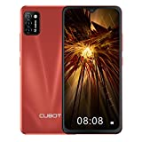 CUBOT Note 7 Smartphone 4G, Teléfono Móvil de 5,5″ Pantalla HD +, Android 10.0, Tripe Cámaras, 16GB ROM(128GB Ampliable SD), Dual SIM, 3100 mAh, Face ID, Rojo