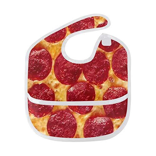 DEZIRO Food Pizza Baby Drooler Bib Baby Bib Waterdicht Wasbaar Vlekbestendig, Pak voor 6-24 Maanden