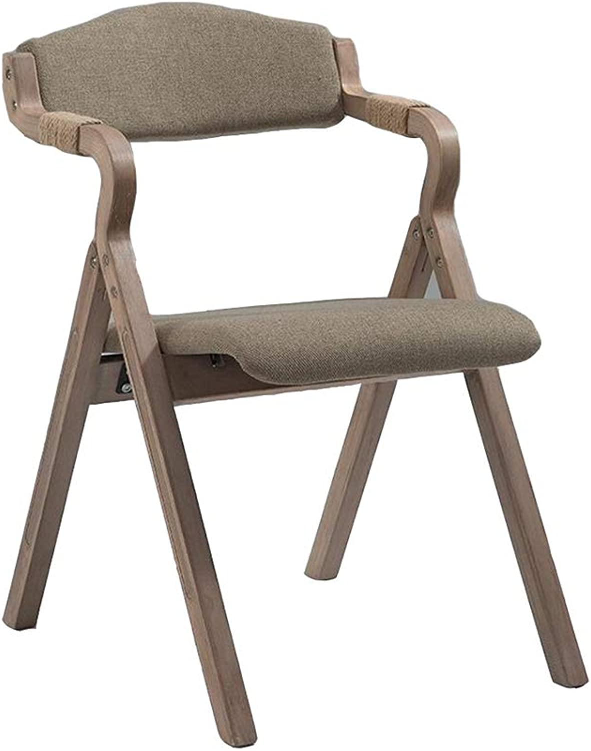 Dall Solid Wood Dining Chair Simple Cloth Folding Adult Armchair Computer Household (color   T1)