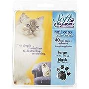 SOFTCLAWS Krallenschutzes für Katzen - Large - Schwarz