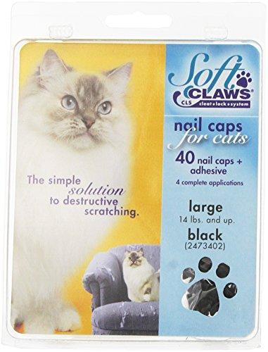 SOFTCLAWS® Krallenschutzes für Katzen - Large - Schwarz