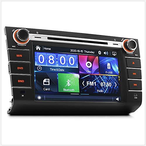 TUNEZ Reproductor de CD y DVD de 8 pulgadas para coche, compatible con Suzuki Swift año 2004-2010, unidad principal, MP3, MP4, MKV, AVI, RMVB, USB, tarjeta SD, CD, radio estéreo en el salpicadero