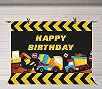 ZPC 7x5ft建設テーマ誕生日パーティー背景ダンプトラックパーティー壁紙壁紙スタジオ装飾背景壁画