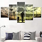 13Tdfc Cuadro En Lienzo, Imagen Impresión, Pintura Decoración, Canvas De 5 Pieza, 150X80 Cm,Pintura Fallout 3 Mural Moderno Decor Hogareña