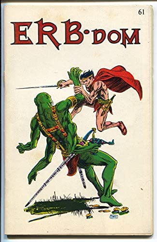 ERB-dom #61 Max 66% OFF 1972-early Burroughs sell ads-F Tarzan fanzine-buy Long-awaited