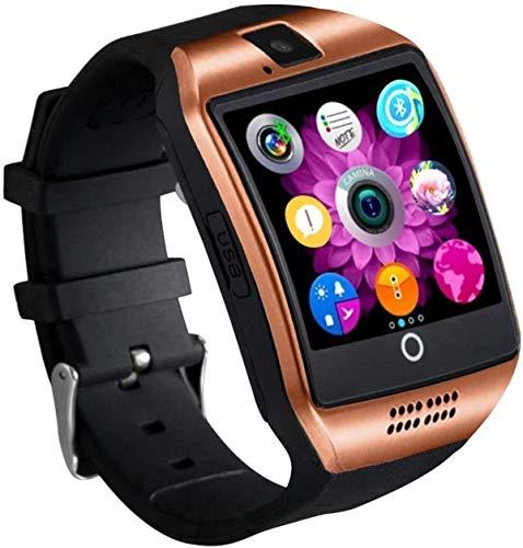 SmartWatch Fitness Watch Watch Watch Fitness Tracker Smart Watch Sport Watch with Sim Card Slot Cámara Podómetro Sleep Tracker Rvte Captura Compatible con Xiaomi Huawei Samsung Android iOS (Oro)