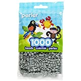 Nceonshop(TM) Perler Fun Fusion Beads 1000/Pkg Grey PBB80-19-19017