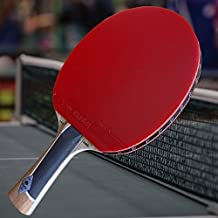 Gambler Custom Professional Table Tennis Pro Competitor Paddle with Zebra Carbon Blade and Zero Rubber plus Black Case