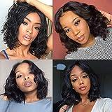 DreamPack Short Body Wave Bob Human Hair Curly Wigs For Black Women Virgin Human Hair 10inch