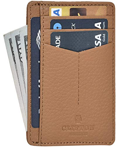 Minimalist Wallets for Men & Women RFID Front Pocket Leather Card Holder Wallet $5.94