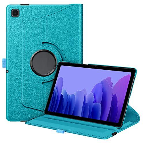 Fintie Funda Giratoria para Samsung Galaxy Tab A7 10.4' 2020 - Rotación de 360 Grados Carcasa con Auto-Reposo/Activación para Modelo SM-T500/T505/T507, Azul Legendario