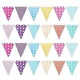 GAOU, bandierine triangolari di Carta, per Feste di Compleanno, Cerimonie, Baby Shower Tri...