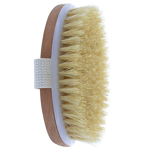 Dry Skin Body Brush, Natural Bristle, Remove Dead Skin and Toxins, Improves Skins Health and Beauty