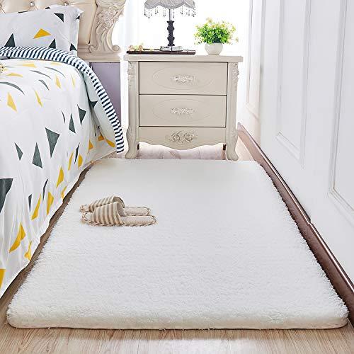 HEXIN dicken Plüsch modernen Teppiche für Wohnzimmer und Teppiche für schlafzimme, Flauschigen Teppich fühlen Sie Sich wohl (beige, 60x90cm)