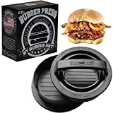 Burger Press with Recipe eBook, Different Size Patty Molds and Non Sticking Coating, Unique 3 in 1 Stuffed Hamburger Maker, With 30 FREE Patty Papers, Discover New Tastes with Burger Art