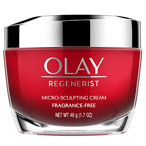 Anti-Aging Face Moisturizer Cream by Olay Regenerist, Micro-Sculpting & Fragrance-Free 1.7 Ounces...