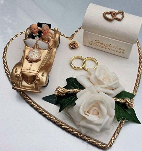 Geldgeschenk Verpackung goldene Hochzeit Geld verschenken gold