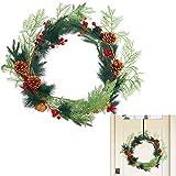 BELLE VOUS Guirnalda Navidad - 2 m Guirnalda Verde Navidad Artificial con 8 Conos de Pino y 12 Bayas Rojas - Guirnalda Navidad Chimenea, Pasamanos, Interior, Exterior - Decoración Hogar Fiestas
