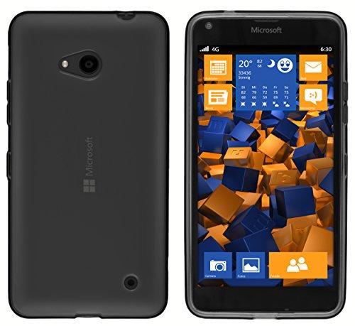 mumbi Funda Compatible con Microsoft Lumia 640 Caja del teléfono móvil, Negro Transparente
