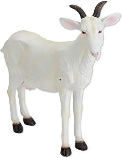 Bits and Pieces - Nanny Goat Motion Sensor Statue - Weather Resistant, Hand-Painted Polyresin Sculpture - Garden Decoration