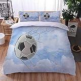 Juego de Ropa de Cama 3 Piezas GOL Tres Piezas Home Bed Set Print Es Y Liviana Funda de Almohada de poliéster Ultra Suave Fundas 140cm x 200cm